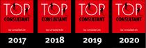 Top Consultant 2017, 2018, 2019 und 2020